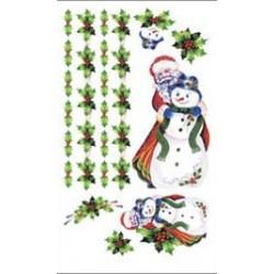 Kalkomania artystyczna - Santa Snowman