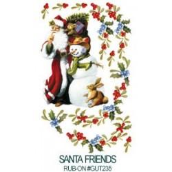 Kalkomania artystyczna - Santa Friends