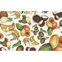 Papier Tassotti do decoupage 50x70 cm - Owoce tropikalne