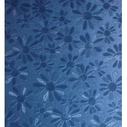Karton margaretki metaliczny niebieski