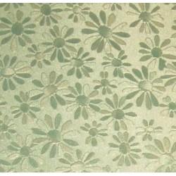 Karton margaretki metaliczny zielony
