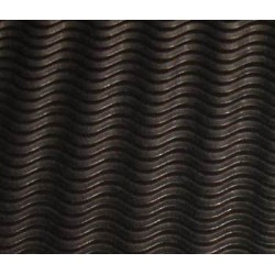 Tektura falista - fala 3D 50 x 70 cm czarna