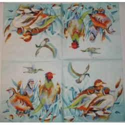 Serwetki do decoupage - dzikie ptaki malowane