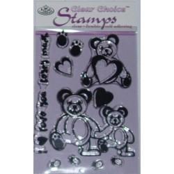 CCS - Komplet przezroczystych stempelków - Love Beary Much