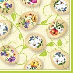 Serwetki do decoupage - Pisanki w kwiatki