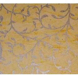 Batik accanthus żółty
