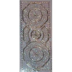 Naklejki samoprzylepne z brokatem rozetki srebrne