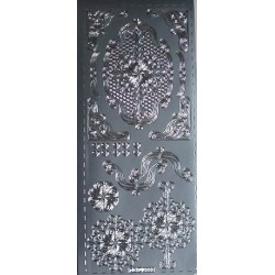 Naklejki samoprzylepne rozety srebrne