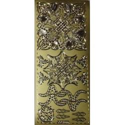 Naklejki samoprzylepne ornament kwadrat, rozetka złoty