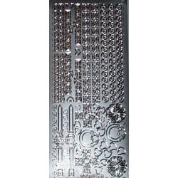 Naklejki samoprzylepne celtyckie ornamenty srebrne