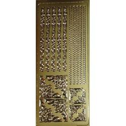 Naklejki samoprzylepne paseczki i kwadraciki złote