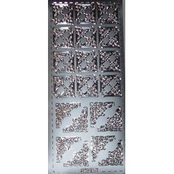 Naklejki samoprzylepne kwadraciki srebrne