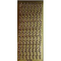 Naklejki samoprzylepne paseczki kwiatuszkowe złote