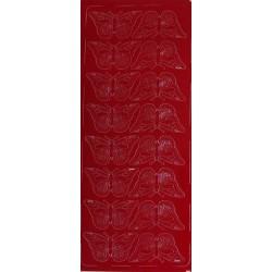 Naklejki samoprzylepne motylki dwa rządki czerwone