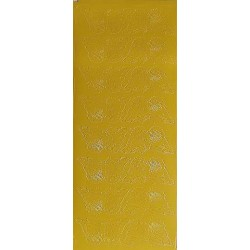 Naklejki samoprzylepne motylki dwa rządki żółte