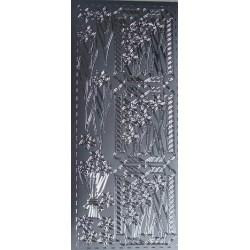 Naklejki samoprzylepne żonkile srebrne