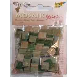 Mozaika marmur zielona 10x10 mm 190 elementów