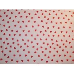 Bibułka z nadrukiem gładka, satynowana - hearts