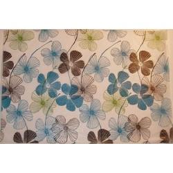 Bibułka z nadrukiem gładka, satynowana - floral lines