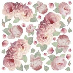 Serwetki ryżowe (papier ryżowy) do decoupage - różowe róże