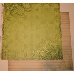 Design Paper ornamenty w zieleni