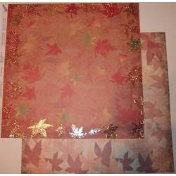 Design Paper pomarańczowo-żółte liście