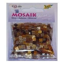 Mozaika glitter brązowa 700 elementów
