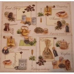 Serwetki do decoupage - w krainie herbaty