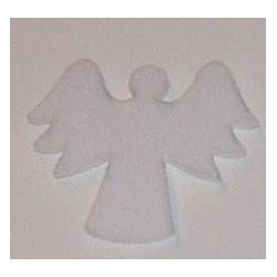 Naklejki kreatywne - Aniołek biały z dużymi skrzydłami 12 sztuk