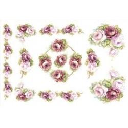 Papier ryżowy TO-DO do decoupage 50x70 - Crimson Roses