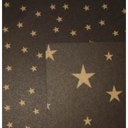 Karton dwustronny w złote gwiazdki czarny