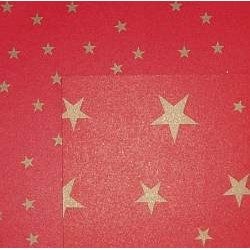 Karton dwustronny w złote gwiazdki czerwony