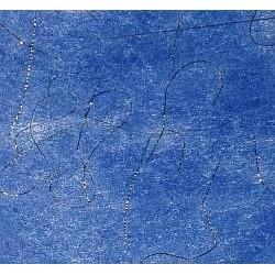 Flizelina (fizelina) ze zlotą nitką niebieska