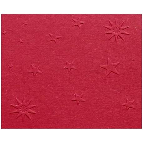 Papier wytłaczany gwiazdy bordowy