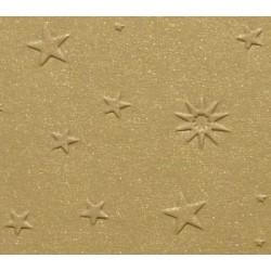 Papier wytłaczany gwiazdy złoty