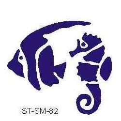 Szablon mini ryba i konik morski 82