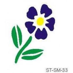 Szablon mini kwiat 33