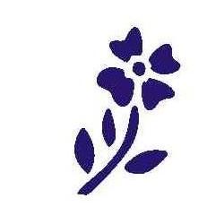 Szablon mini kwiat 34
