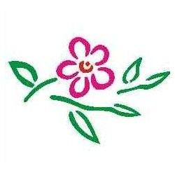 Szablon mini kwiat 37