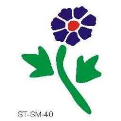 Szablon mini kwiat 40