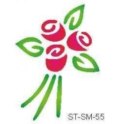 Szablon mini róże 55