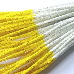 Druty powlekane pianką - biało-żółte