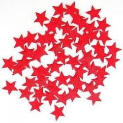 Satynowe gwiazdy - czerwone 100 szt.