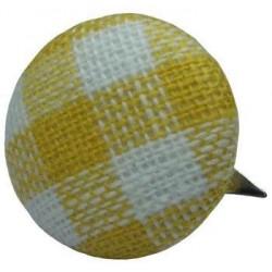 Ćwiek powlekany materiałem - biało-żółty