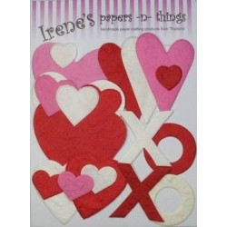 Aplikacja papierowa - Hearts red