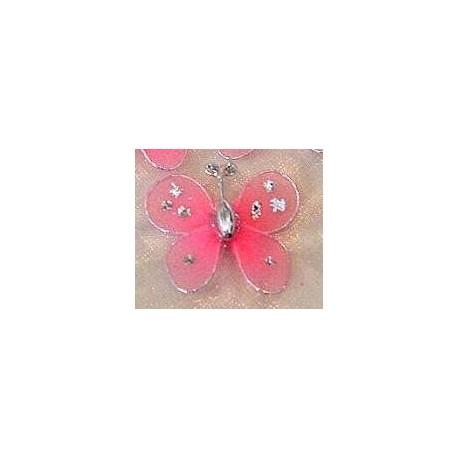 Motylek druciany - różowy