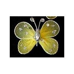Motylek druciany - żółty