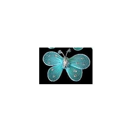 Motylek druciany - turkusowy
