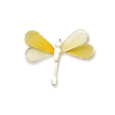 Ważka druciana - biało-żółta