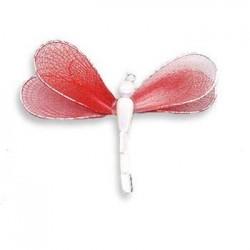 Ważka druciana - biało-czerwona